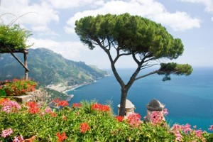 View over Ravello coast