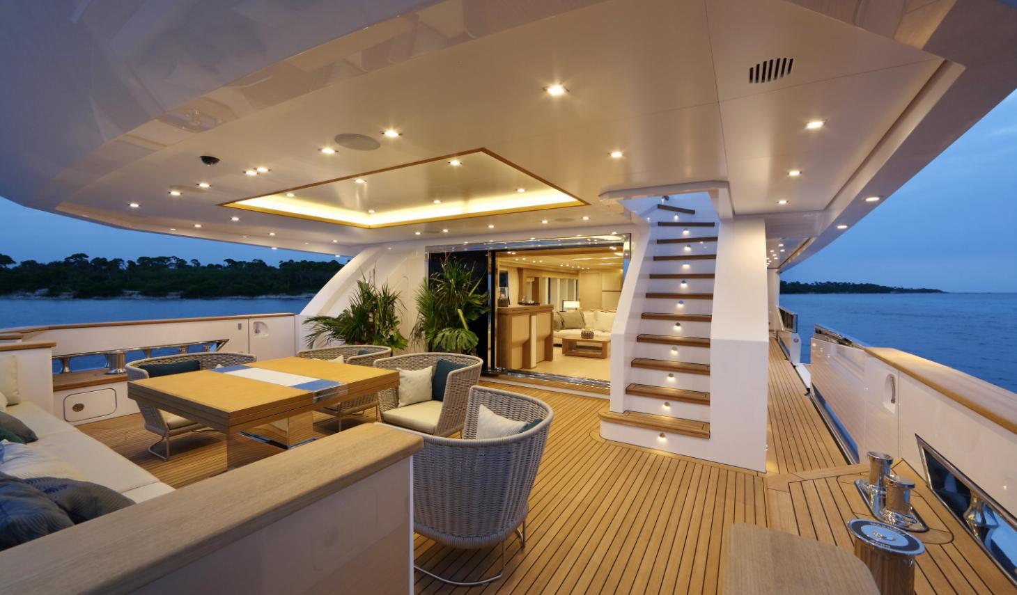 Gli eccellenti yacht di lusso panorama 4 piano for Interni di lusso