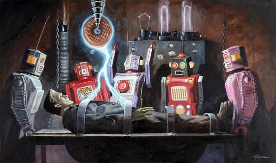 Eric-Joyner-Lartista-che-ama-dipingere-robot-e-donut7-560x331