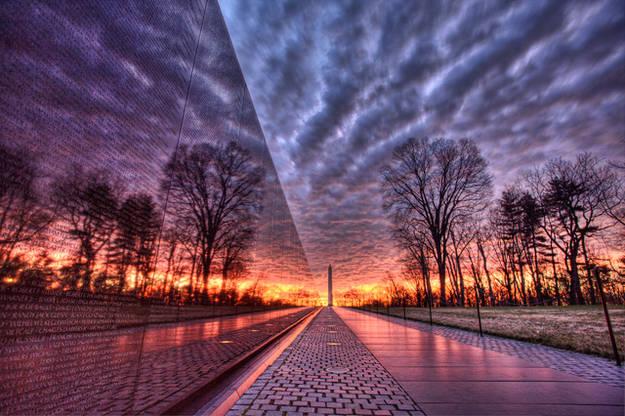 tramonto-al-vietnam-veterans-memorial
