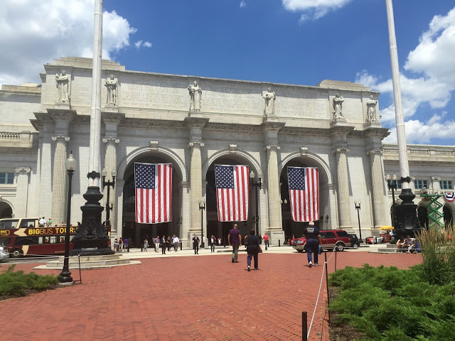 union station front flags