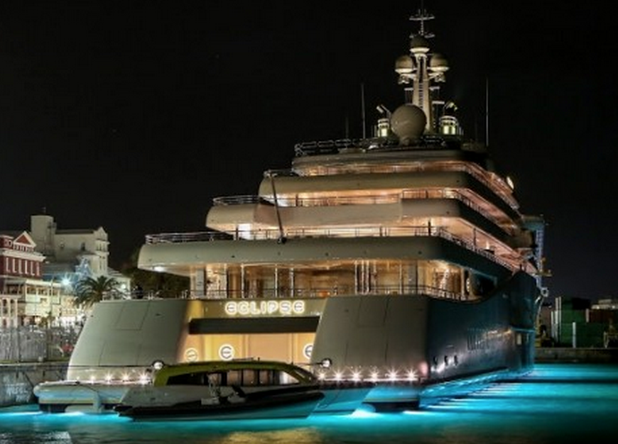 Eclipse An Exclusive Yacht Panorama 4 Piano